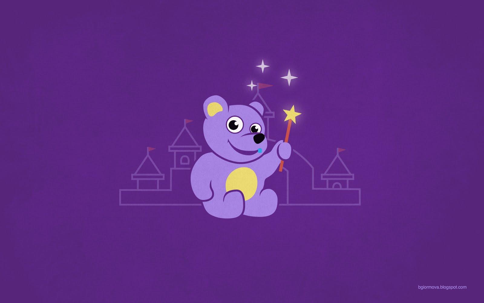 My Grinning Mind Cute Cartoon Teddy Bear Fairy 1600x1000