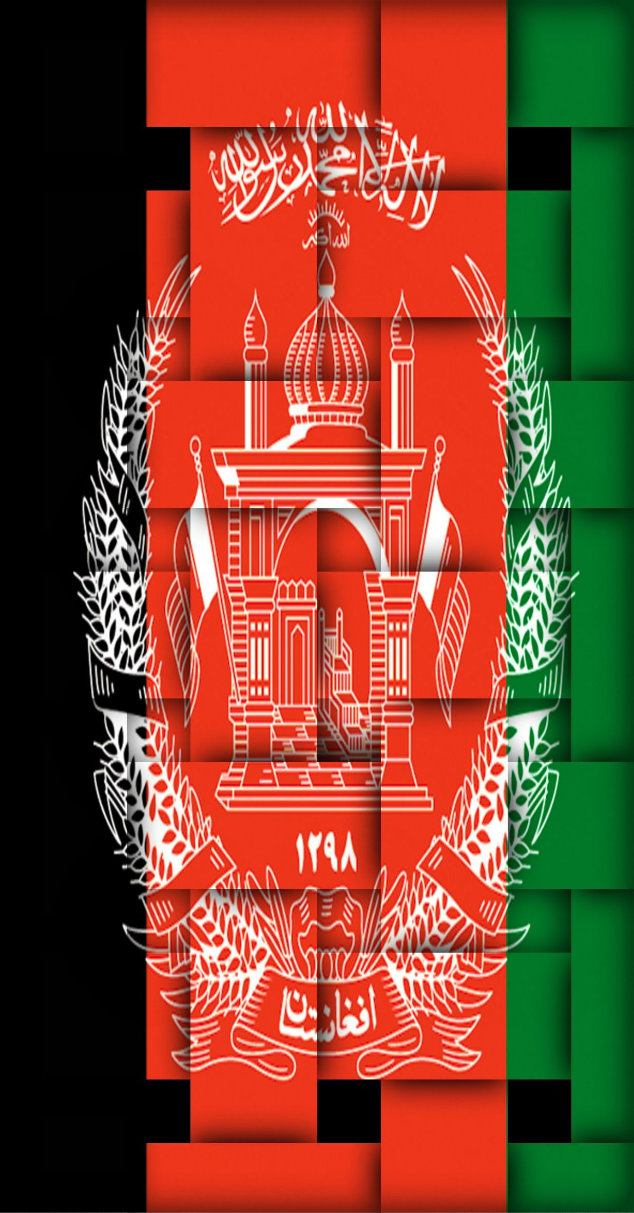 afghanistan flags artwork Wallpapers for smartphones 1235x2362