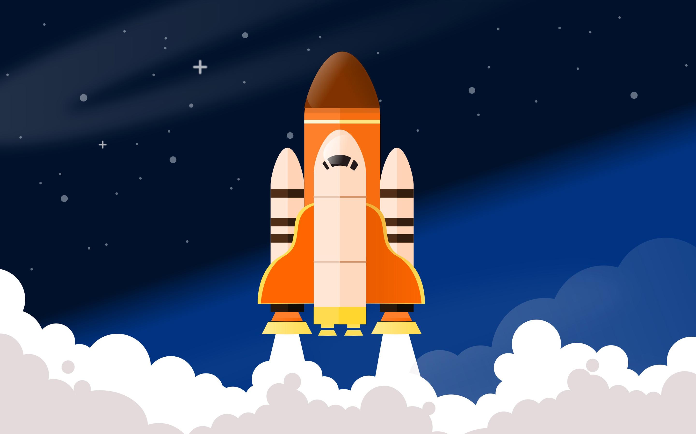 Space Rocket Shuttle Digital Art Wallpaper Background 63426 2880x1800