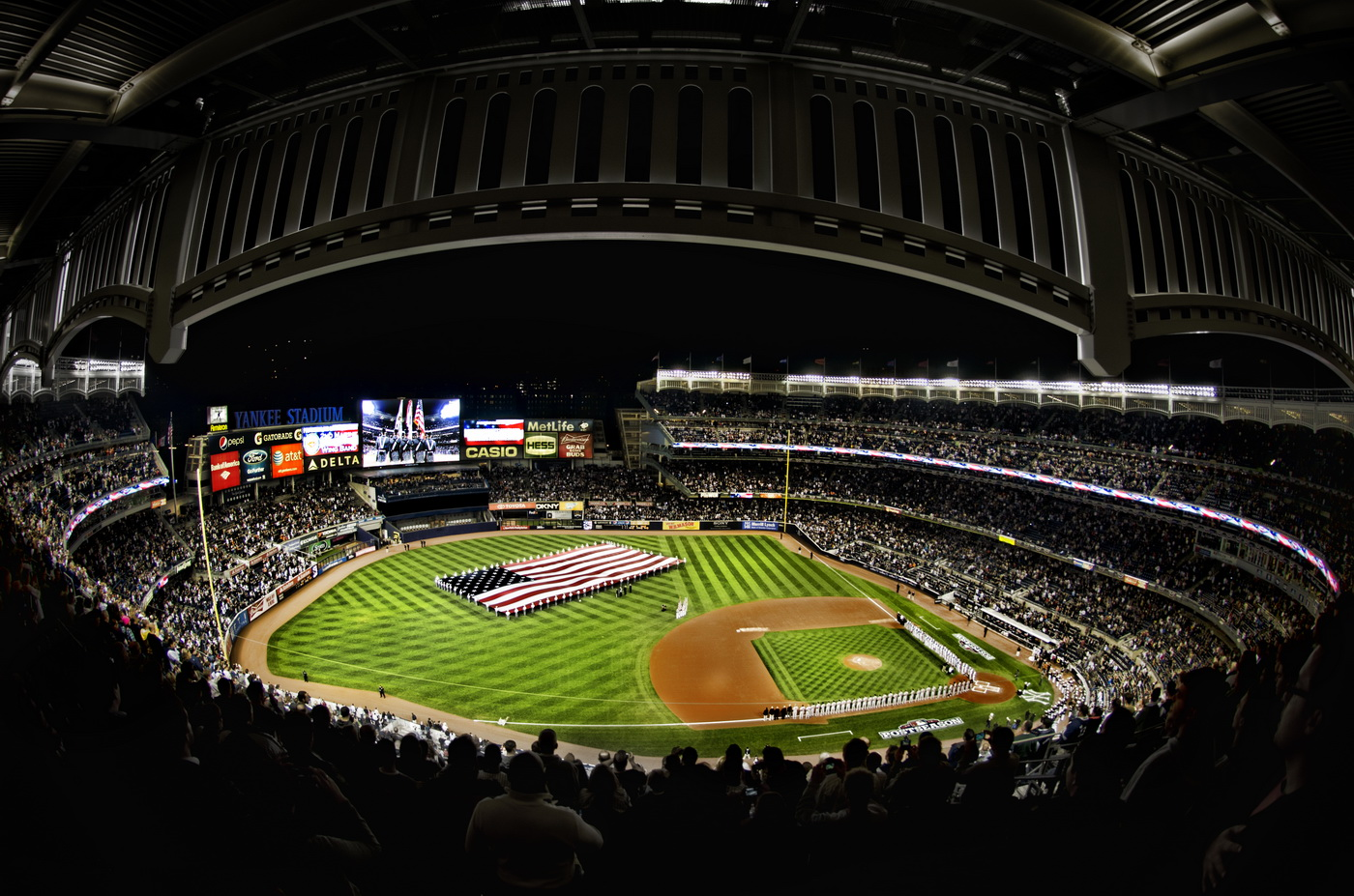 New yankee stadium wallpaper wallpapersafari for Baseball stadium mural wallpaper