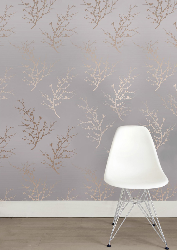 Edie Bronze Removable Wallpaper by Tempaper   RosenberryRoomscom 567x800