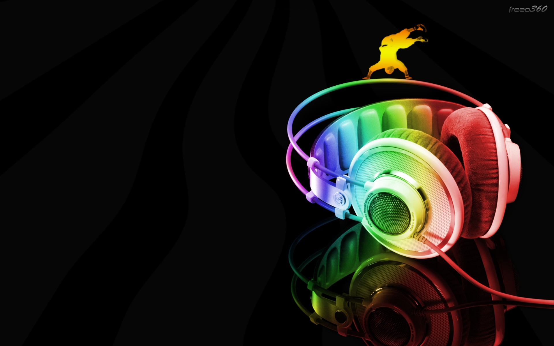 Neon Headphone Cool Music Wallpaper Wallpaper WallpaperLepi 1920x1200
