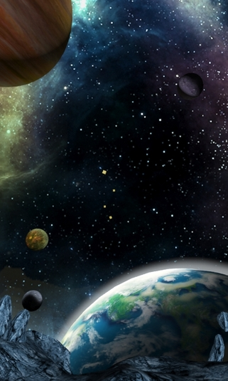 3D Galaxy Live Wallpaper Android   Download 321x535