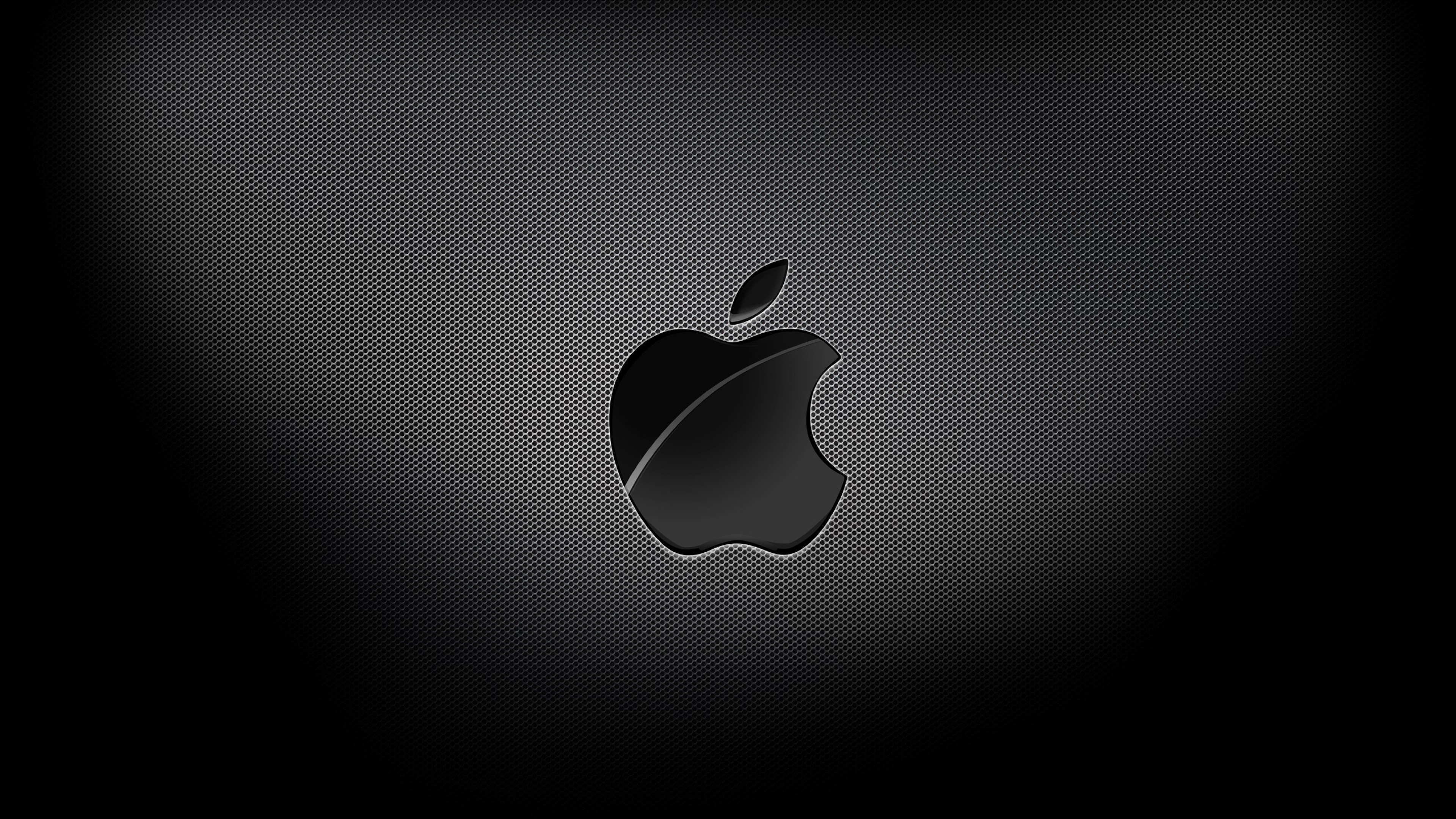 3840x2160 Wallpaper apple mac brand logo dark light shadow 3840x2160