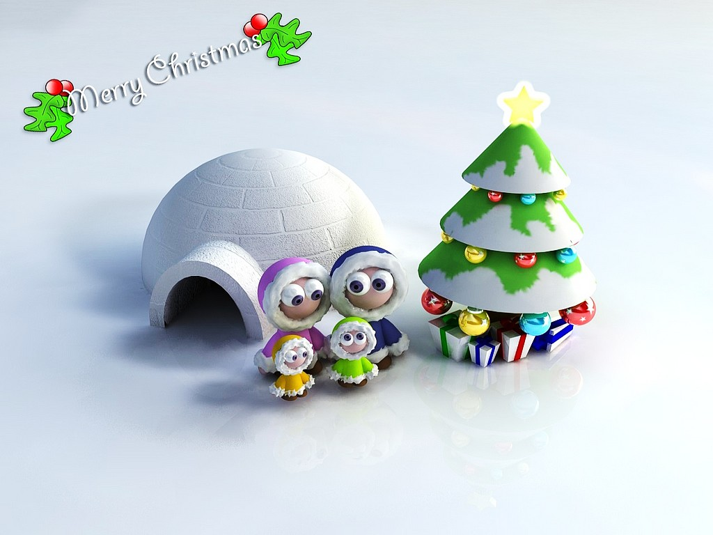 Cute Christmas   Backgrounds Wallpapers Pictures Pics Photos 1024x768