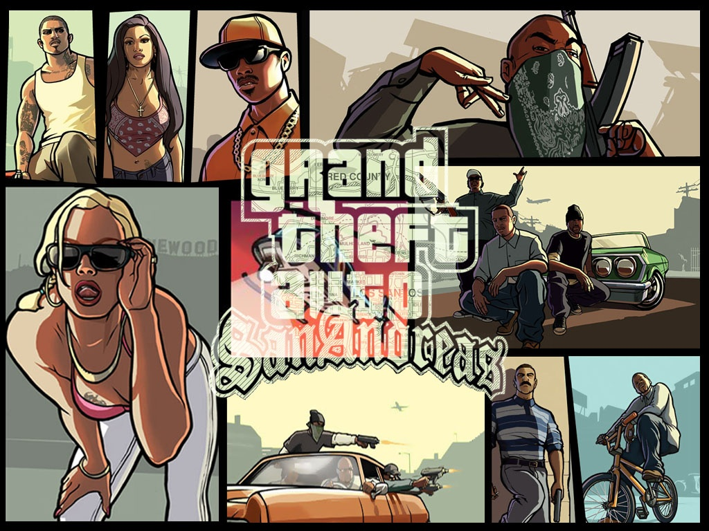 Grand Theft Auto San Andreas Wallpaper 1024 x 768 Pixels 1024x768