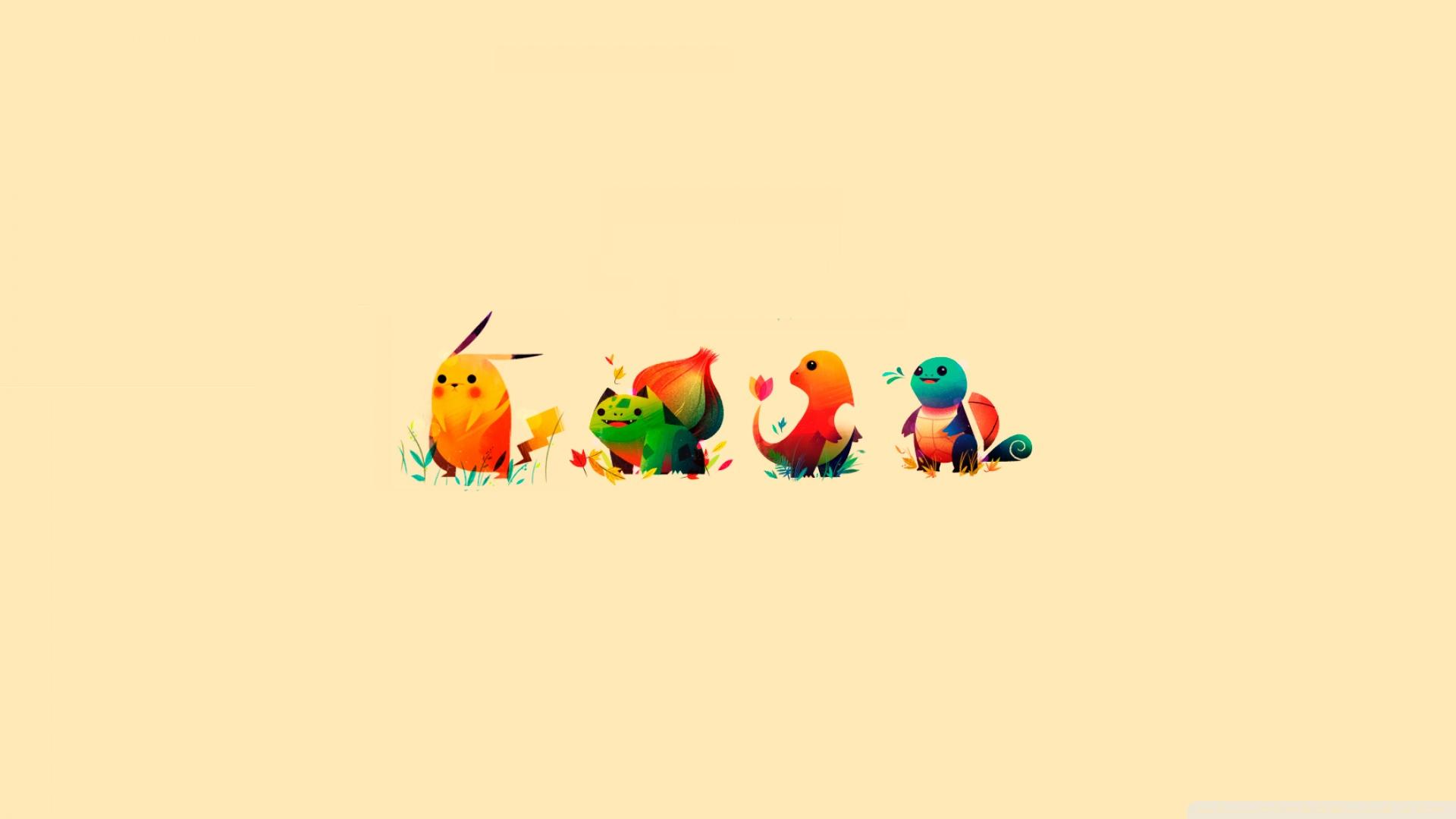 Pikachu Charmander Squirtle Wallpaper 1920x1080 Wallpoper 444602 1920x1080