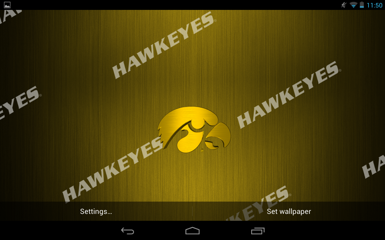 licensed iowa hawkeyes live wallpaper with animated 3d logo background 1280x800