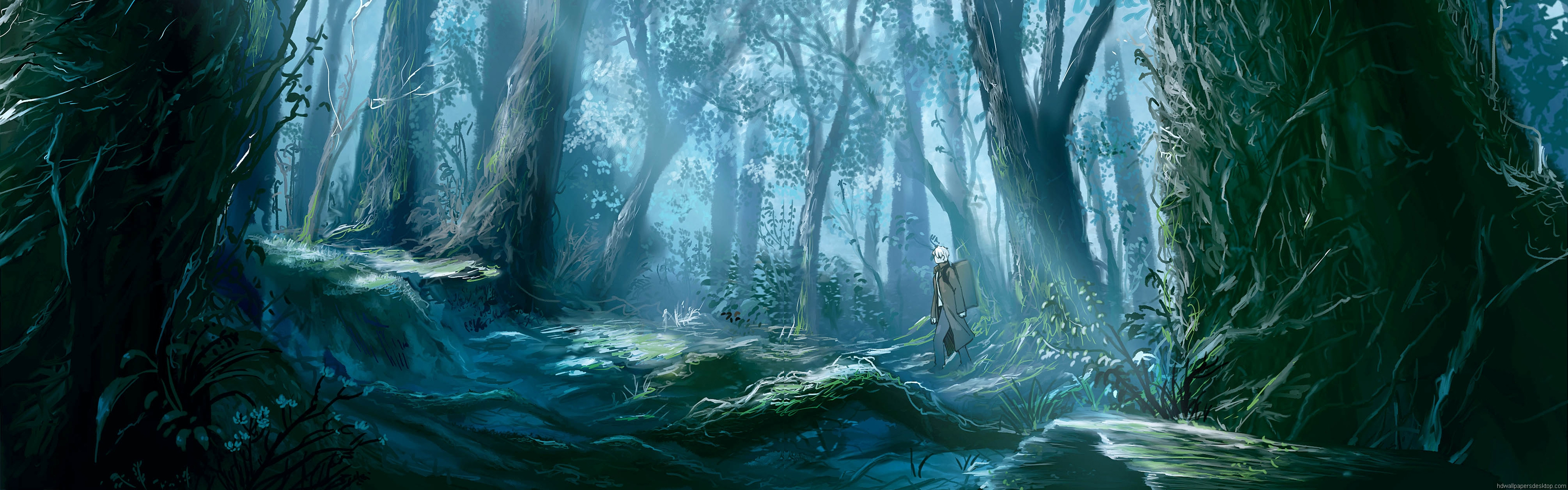 Background image 3840x1200 - Jpg 3840x1200 Forest Dual Monitor Background