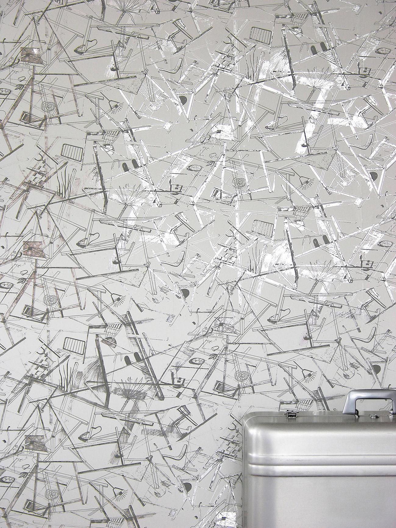 Erica Wakerly Construct silverwhitegrey Wallpaper 1299x1733