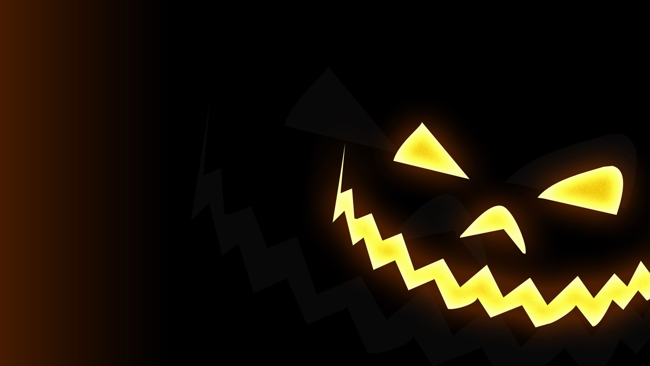 Free Download Black Wallpaper Of A Jack O Lantern In Halloween