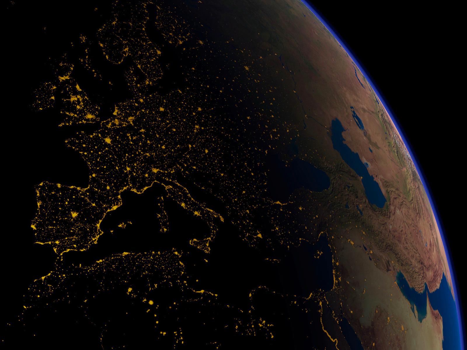 Earth at night wallpapers Earth at night stock photos 1600x1200