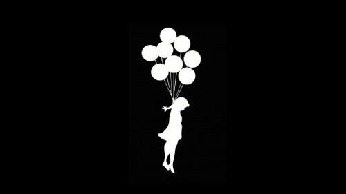 Suicide Girl Wallpaper Balloons Wallpapers Desktop Full HD 500x281