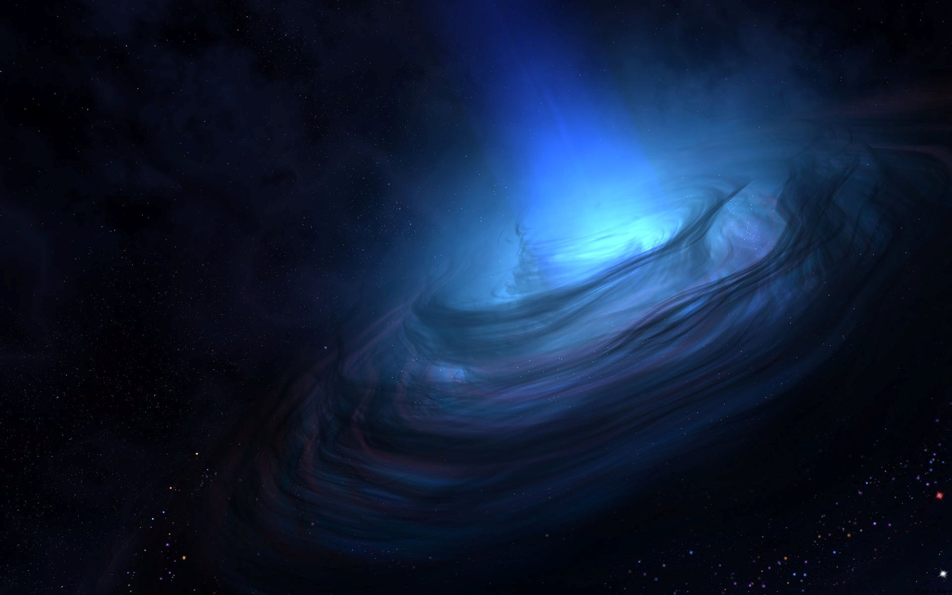 Blue Nebula HD page 2   Pics about space 1920x1200