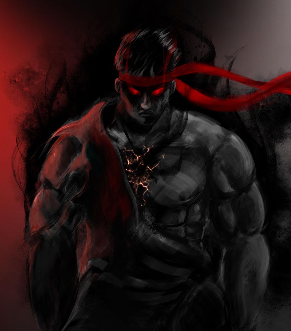 Evil Wallpapers: Evil Ryu Wallpaper
