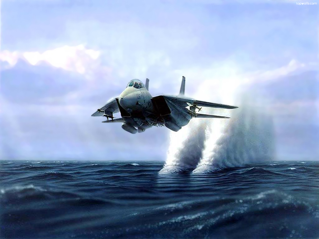 F14 Tomcat Jet Flying   Wallpaper Pin it 1024x768