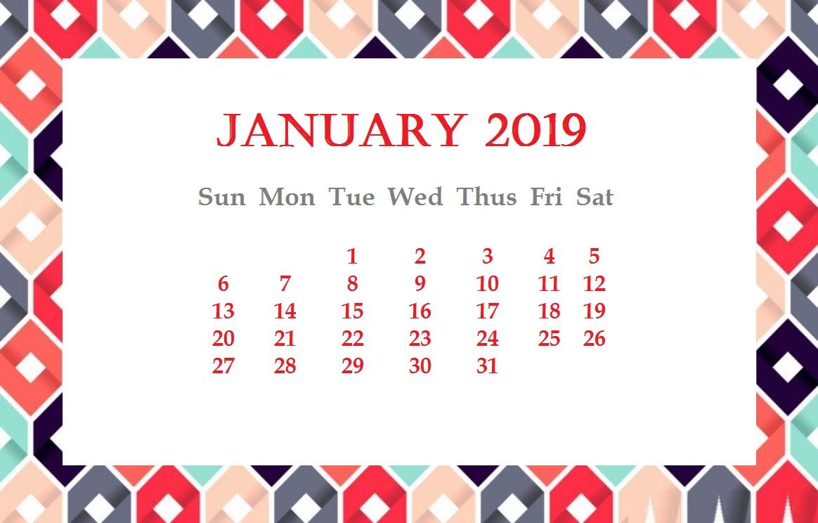 January 2019 Desktop Background Wallpaper Latest Calendar 1164x744