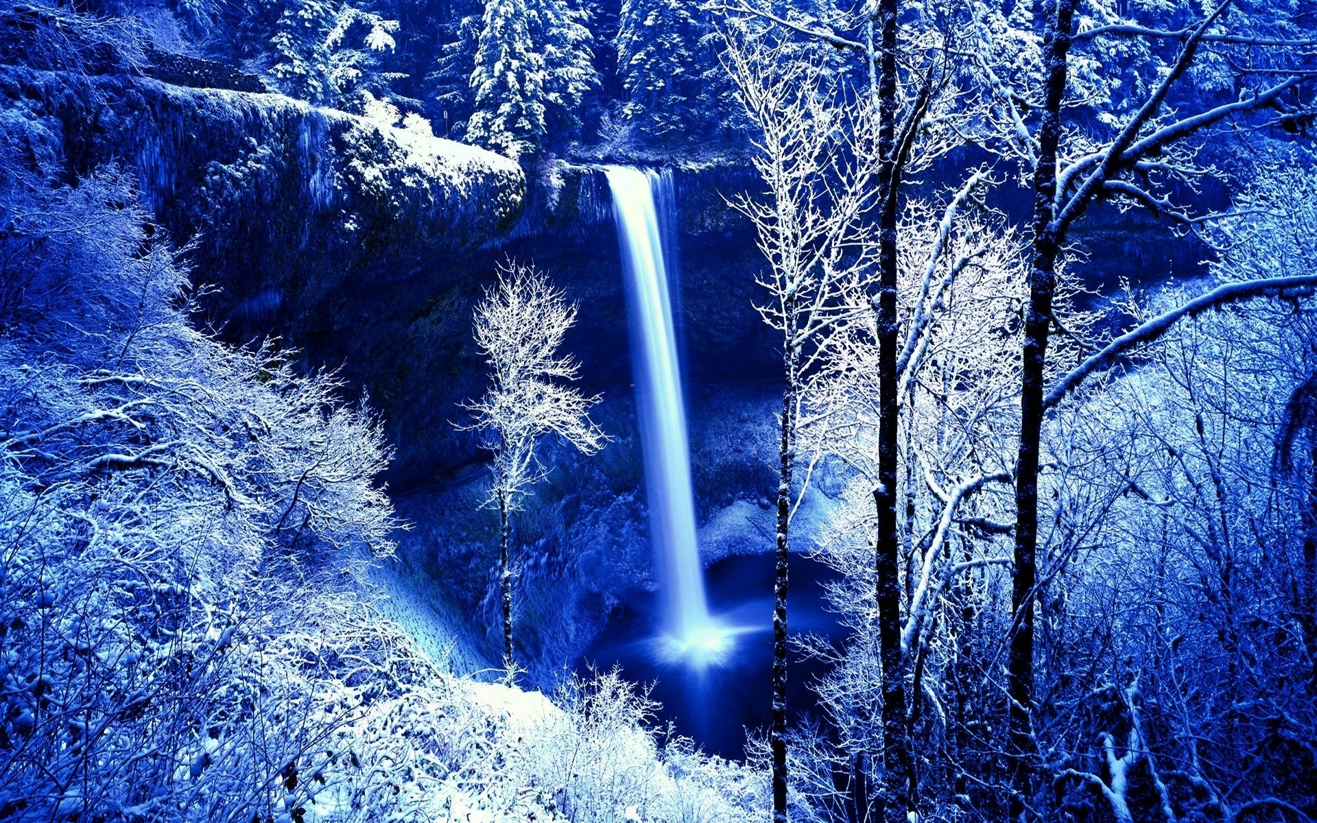 Blue Waterfall in Winter wallpaper   ForWallpapercom 1920x1200