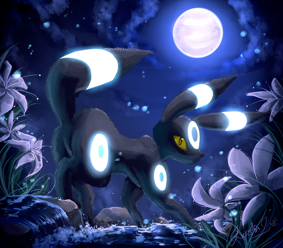 Moons Charm Shiny Umbreon by EvilQueenie 900x789