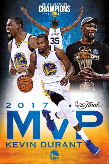 KEVIN DURANT 2017 NBA FINALS MVP Golden State Warriors 366x550
