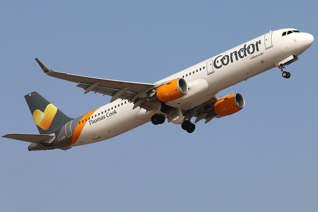Images Airplane Passenger Airplanes Airbus A321 211 Condor Flight 1280x855