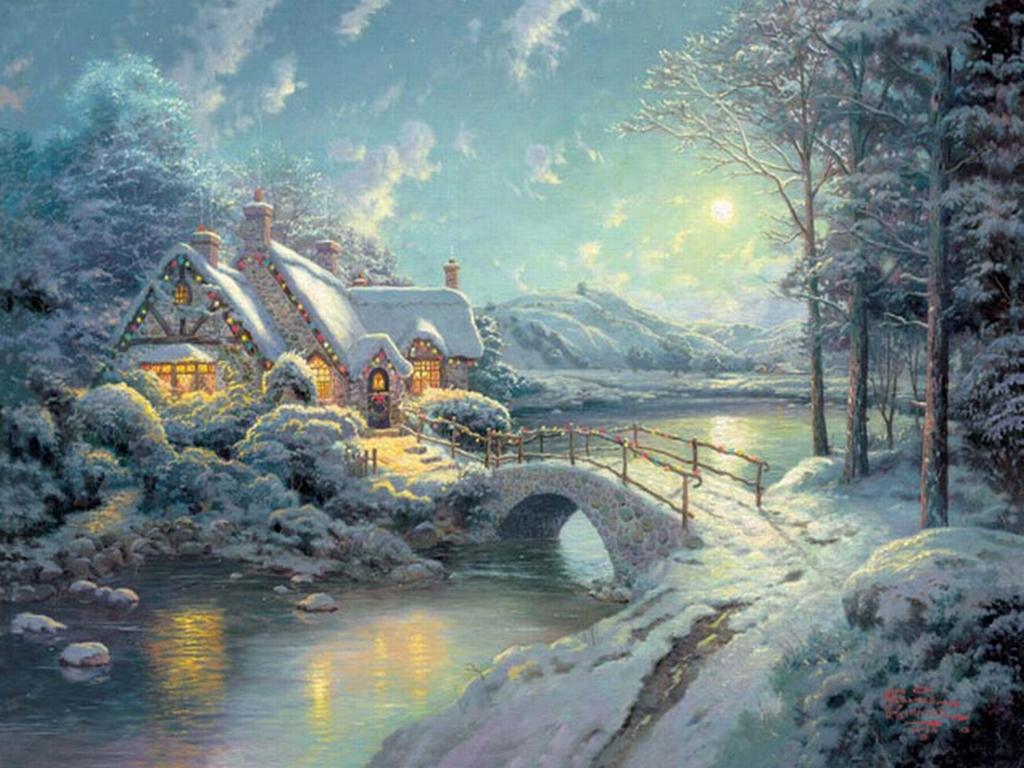 Kinkade christmas cottage - Thomas Kinkade Christmas Collection