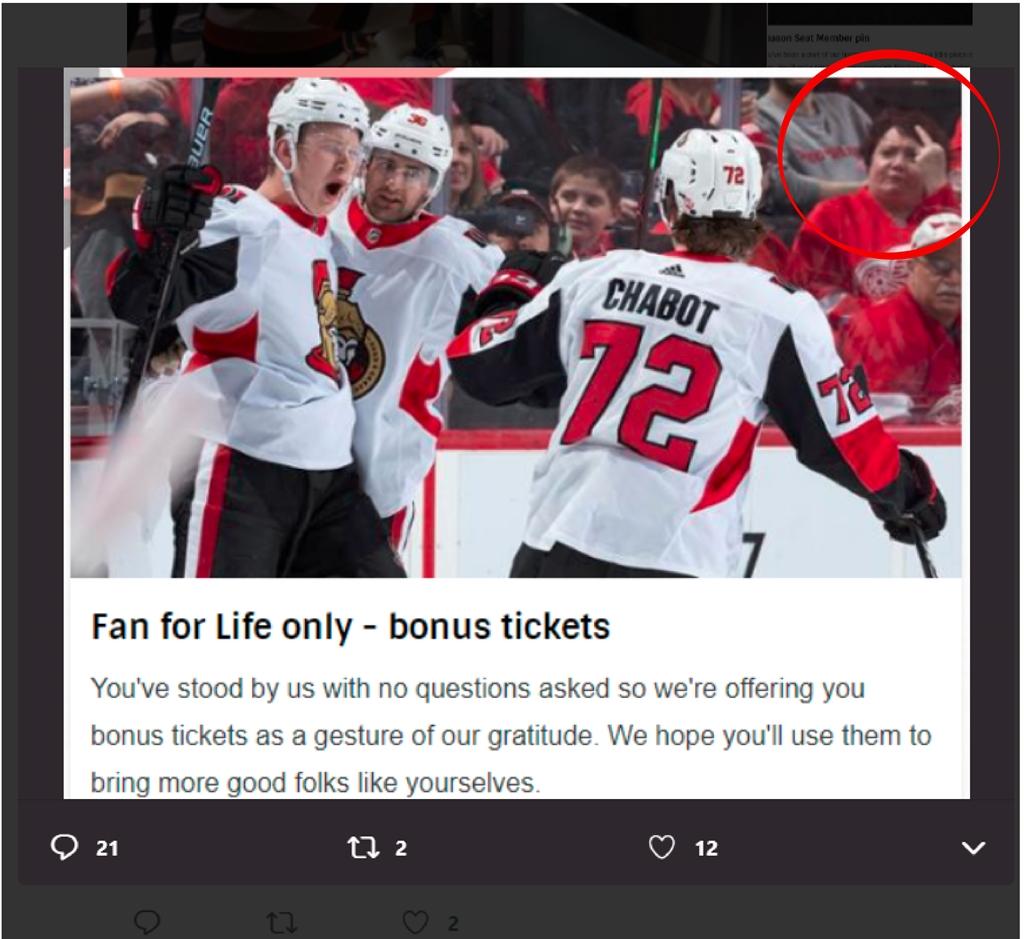 The Ottawa Senators sent out the new Season Ticket holder perks 1024x939
