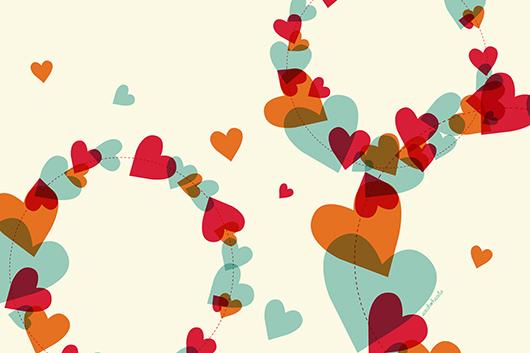 Hearts Computer iPad iPhone Wallpaper by Sarah Hearts 530x353