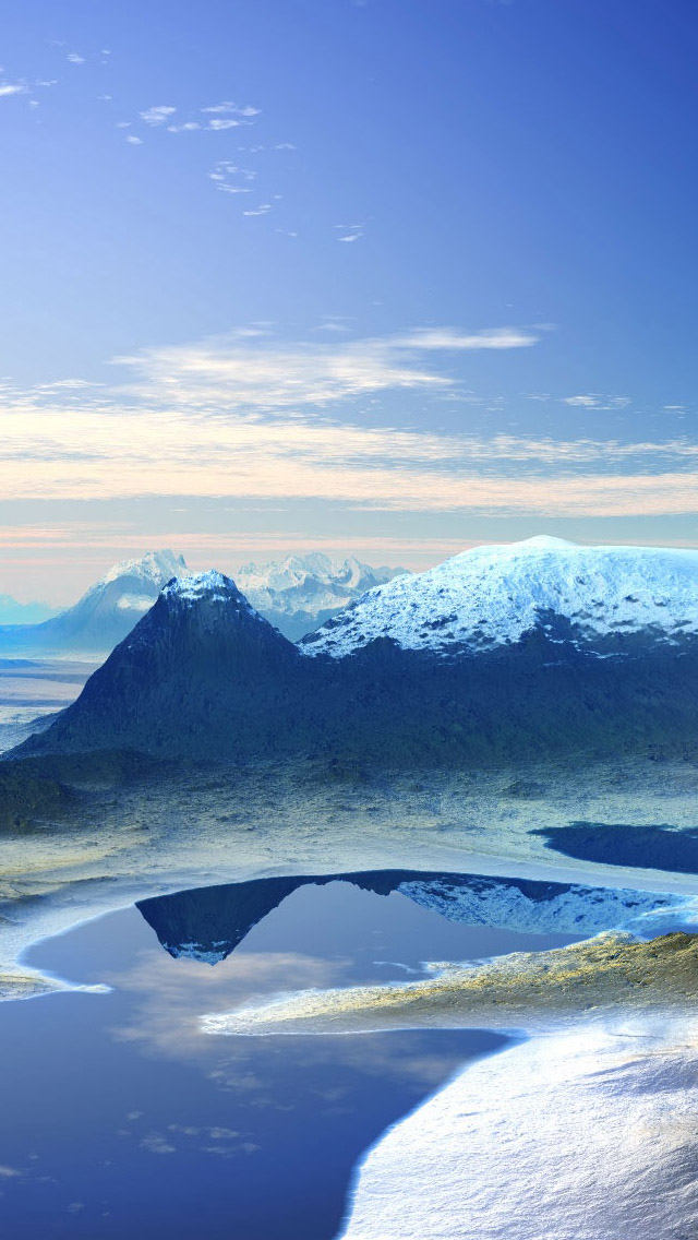 3d mountain scenery iphone wallpaper tags 3d cloud mountain scenery 640x1136
