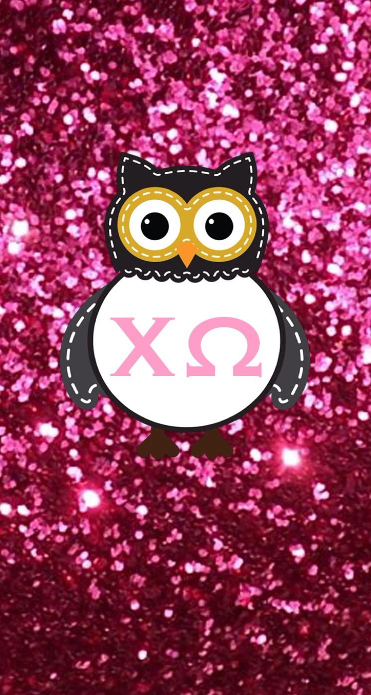 Chi omega owl phone background Chi Omega Pinterest 744x1392