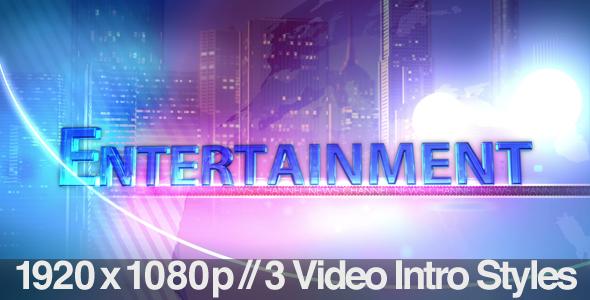 TV News Program Segment   Entertainment   3 Styles VideoHive 590x300