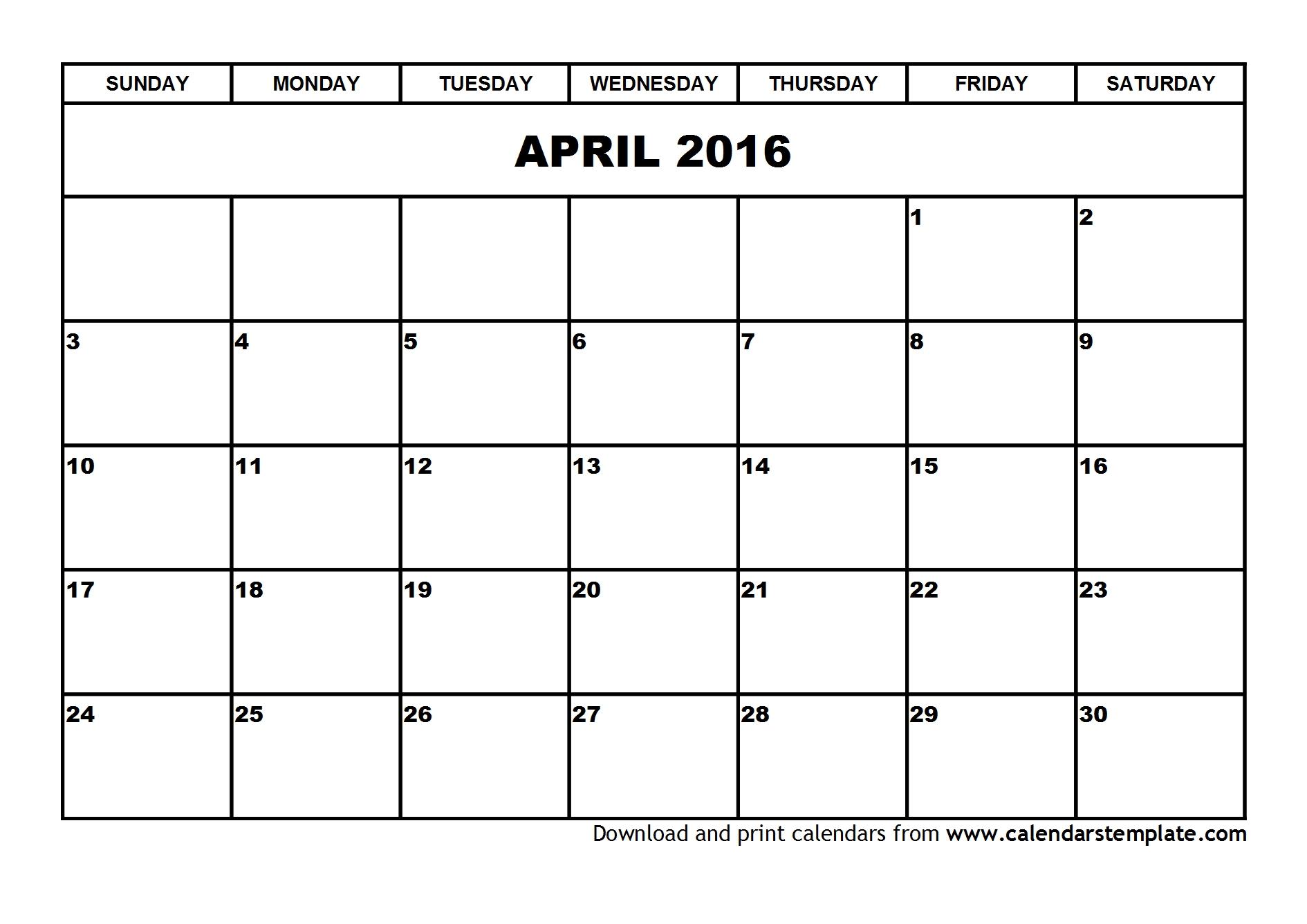 April Calendar Template 1890x1336