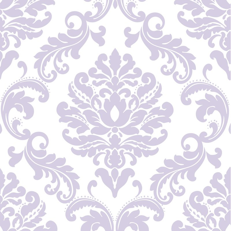 Ariel Purple Damask Peel And Stick NuWallpaper   RosenberryRoomscom 800x800