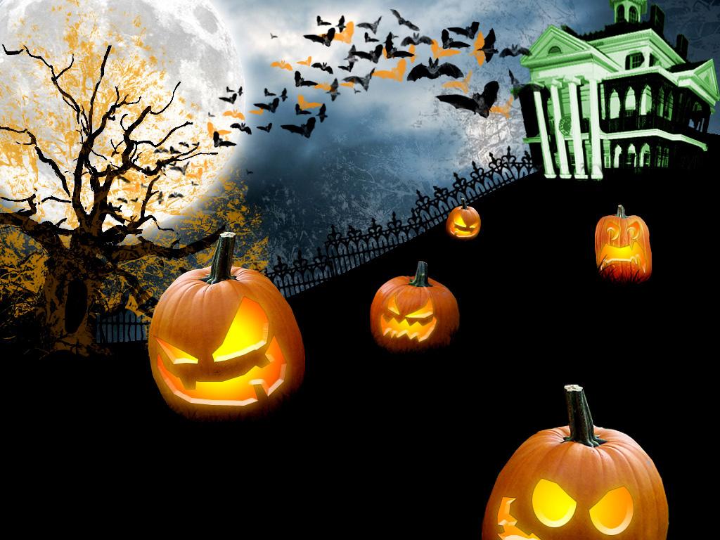 desktop wallpaperanimated halloween wallpaper High Resolution 1024x768