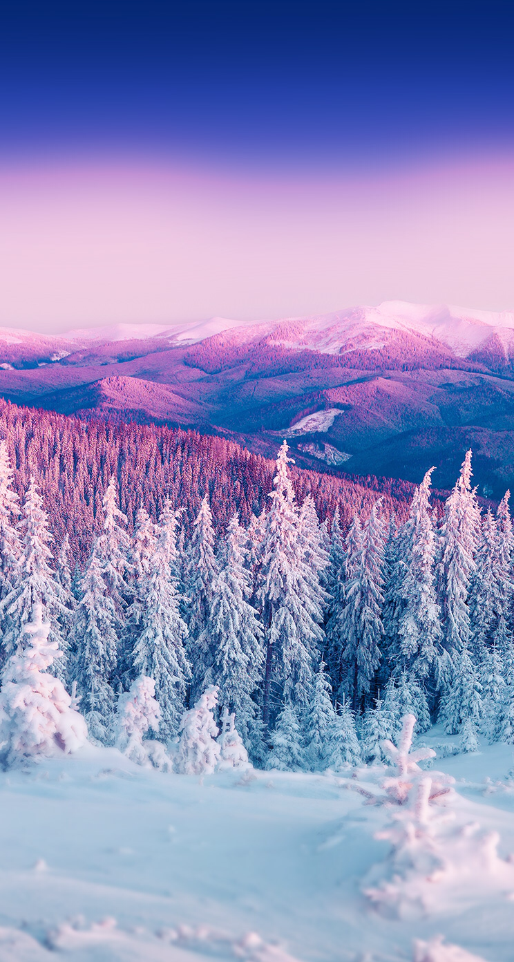 Omg I lovveee this so much Iphone wallpaper winter Landscape 744x1392