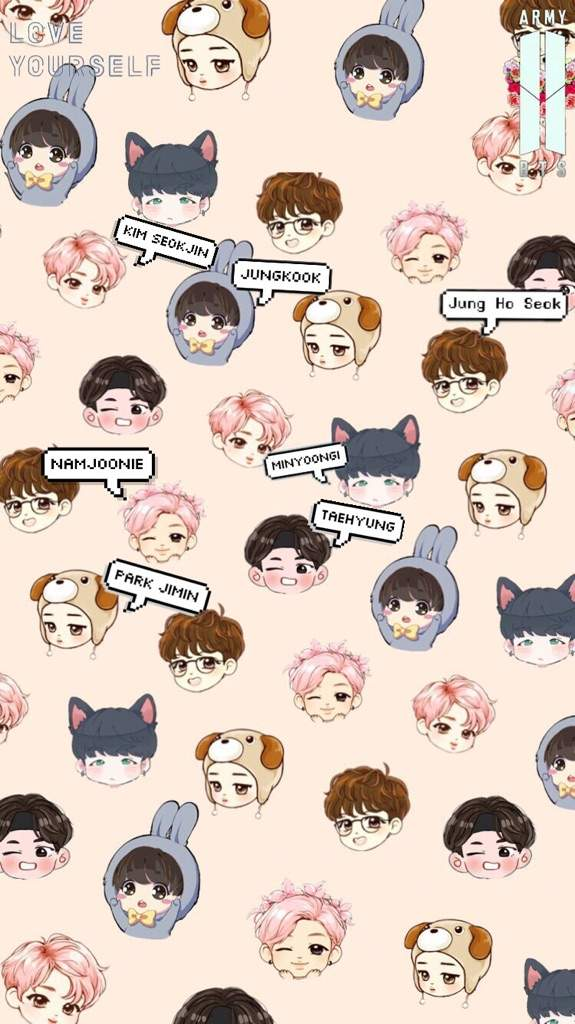 Bts chibi wallpapers if u want an individual member lmk RM ARMY 575x1024