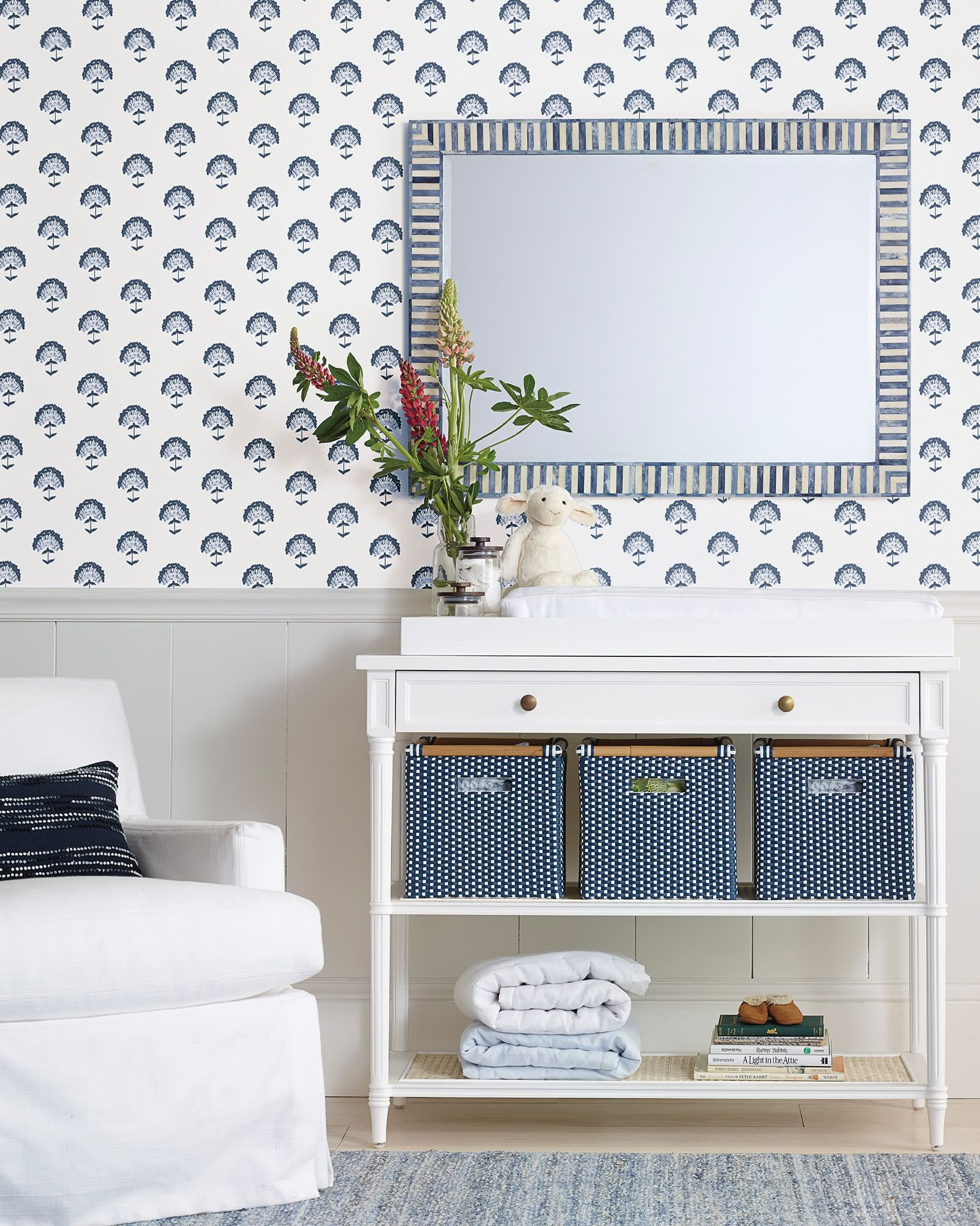 Serena Lily Astoria Wallpaper in 2019 Baby changing tables 1600x2000