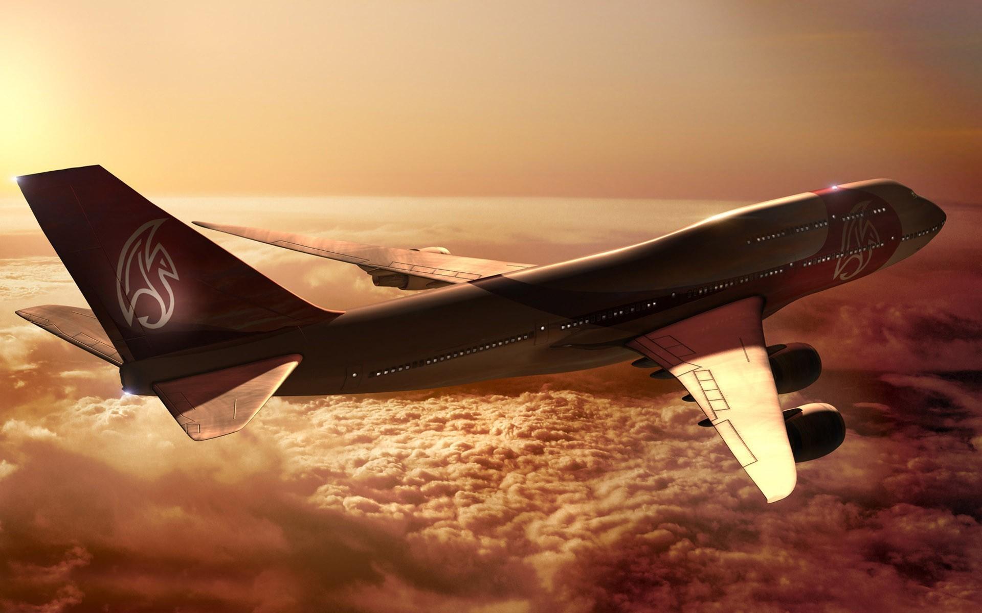 Авиалайнер в воздухе  № 2357382 загрузить