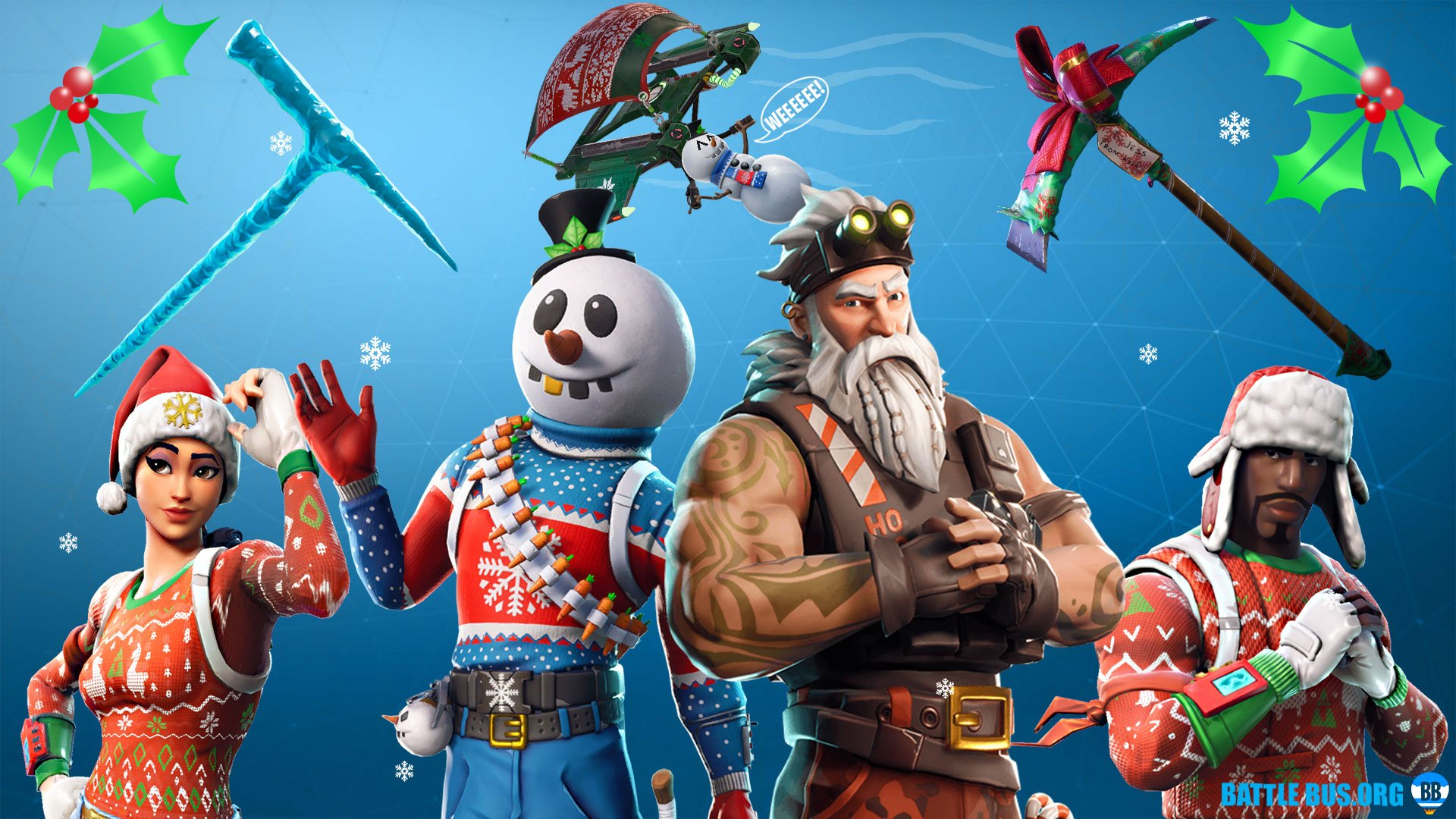 Every Fortnite Christmas skin so far 16th Dec   Fortnite Season 7 1920x1080