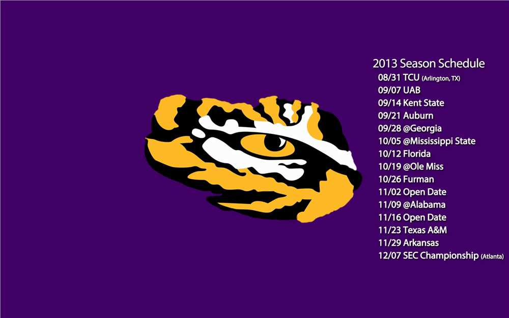 LSU Tigers Football 2013 schedual tiger eye 1000x625
