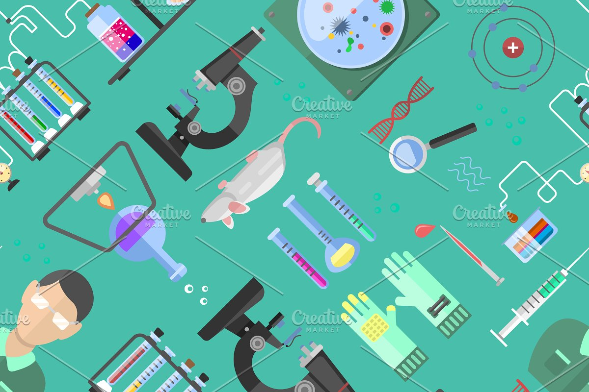 Science background biology vector Illustrations Creative Market 1200x800