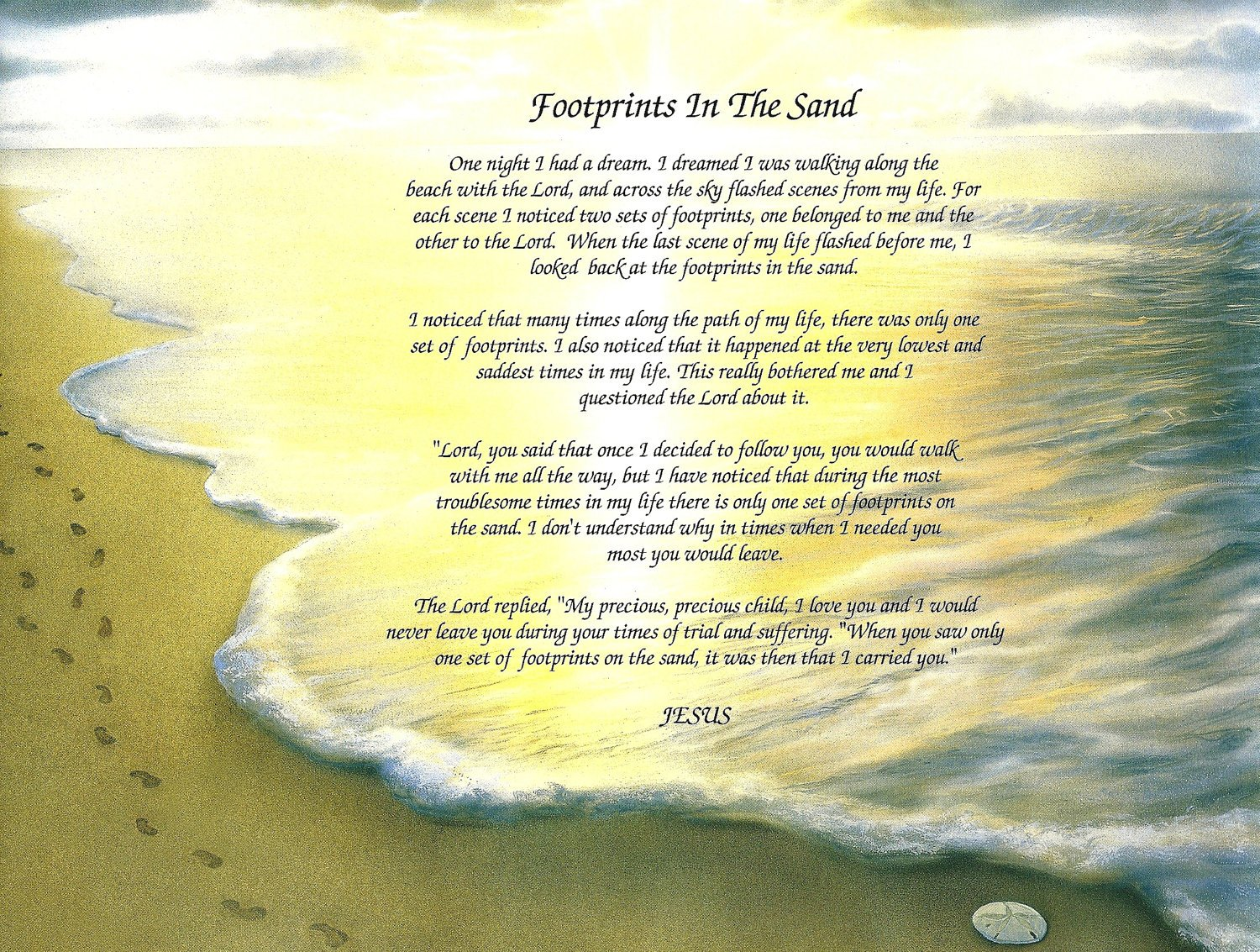 Footprints In The Sand Poem Printable Footprints in the sand poem 1500x1133
