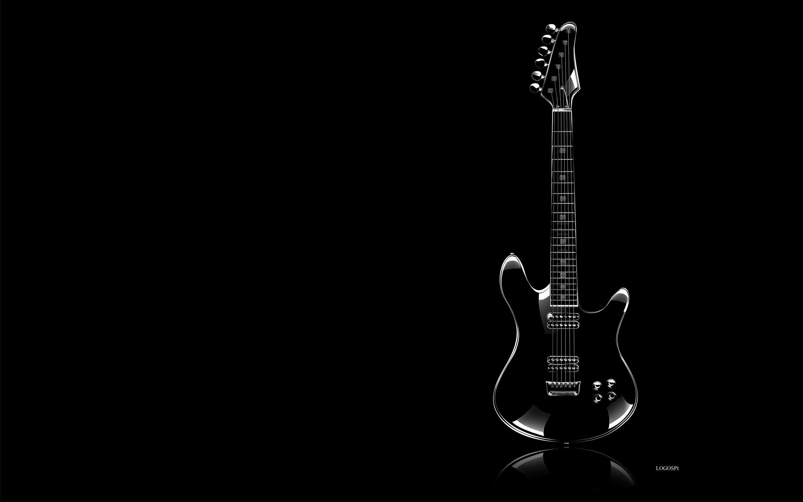 Guitar Black Backgrounds 2560x1600