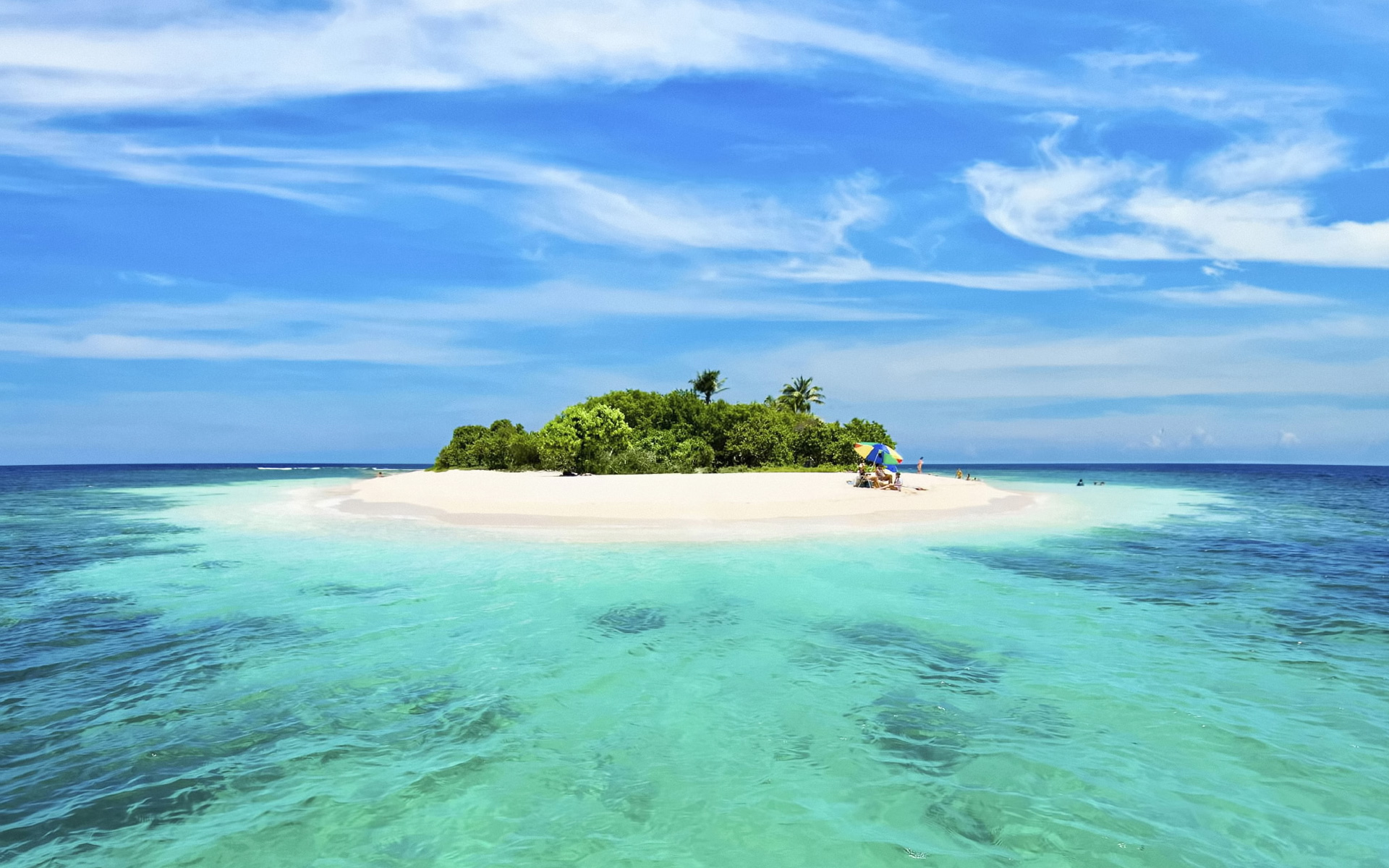 Sandy island in the middle of the ocean wallpaper - Beach Wallpapers