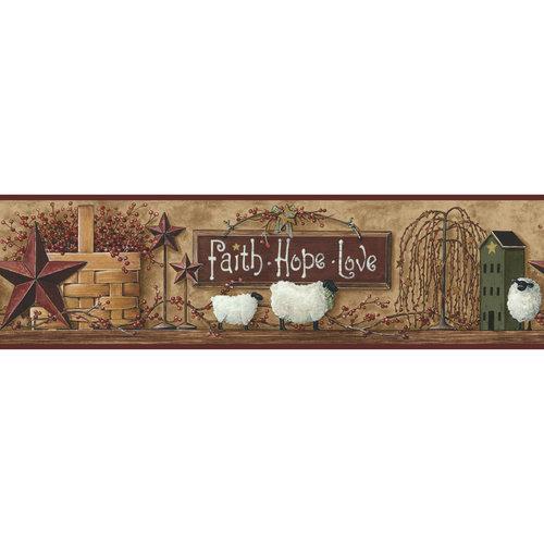Better Homes and Gardens Faith Hope Love Border   Walmartcom 500x500