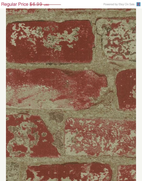 Old Distressed Red Brick and Mortar Tuscan by WallpaperYourWorld 570x728