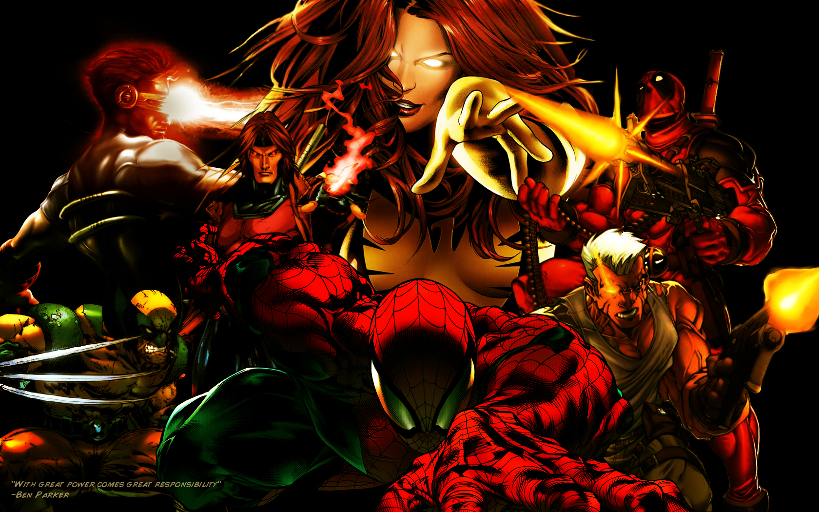 Superhero Wallpaper by OriJuice 1680x1050