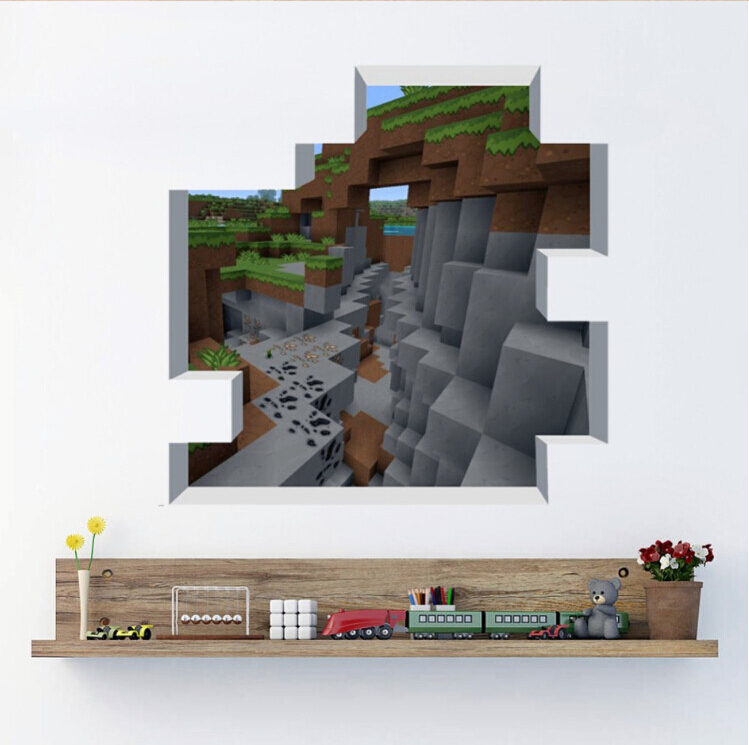 Newest Minecraft Wall Stickers Wallpaper Kids Room Decal Minecraft 749x745