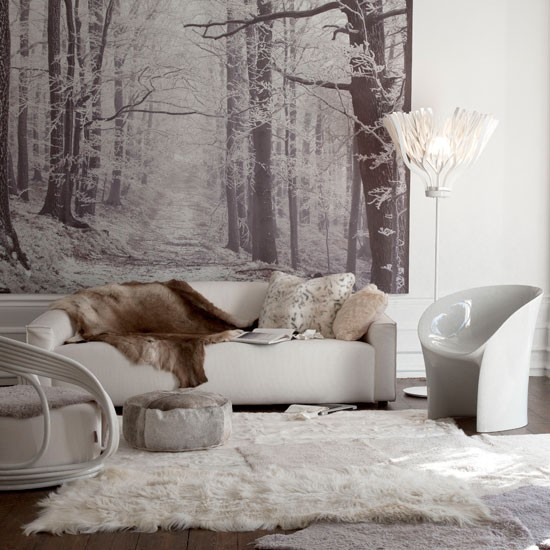 Winter inspired living room wallpaper wallpaper designs 550x550