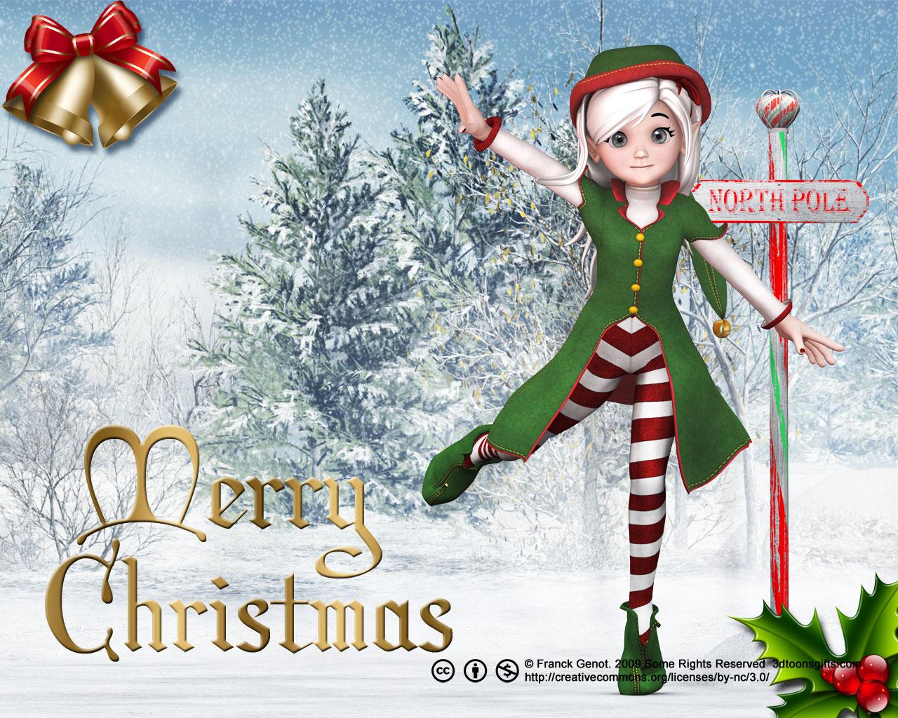 christmas elf wallpaper 4 533x400 1280x1024